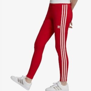 Adidas scarlet red leggings!
